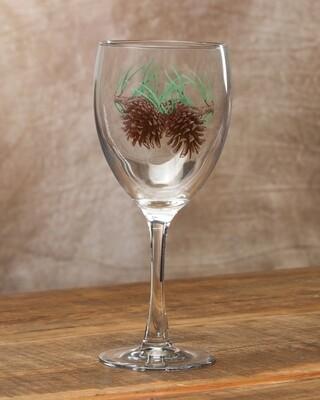 15oz goblet, set of 4, pine cone