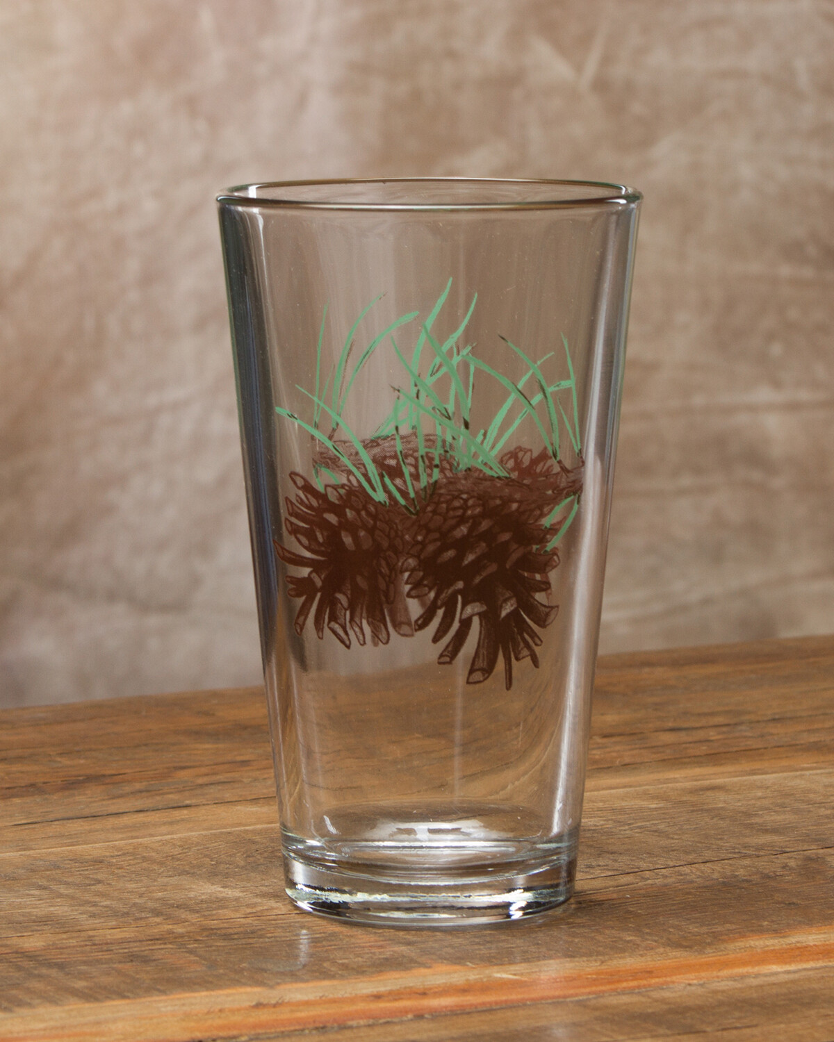 20oz pint, set of 4, pine cone