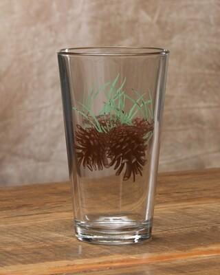 20oz pint, set of 4, pine cone