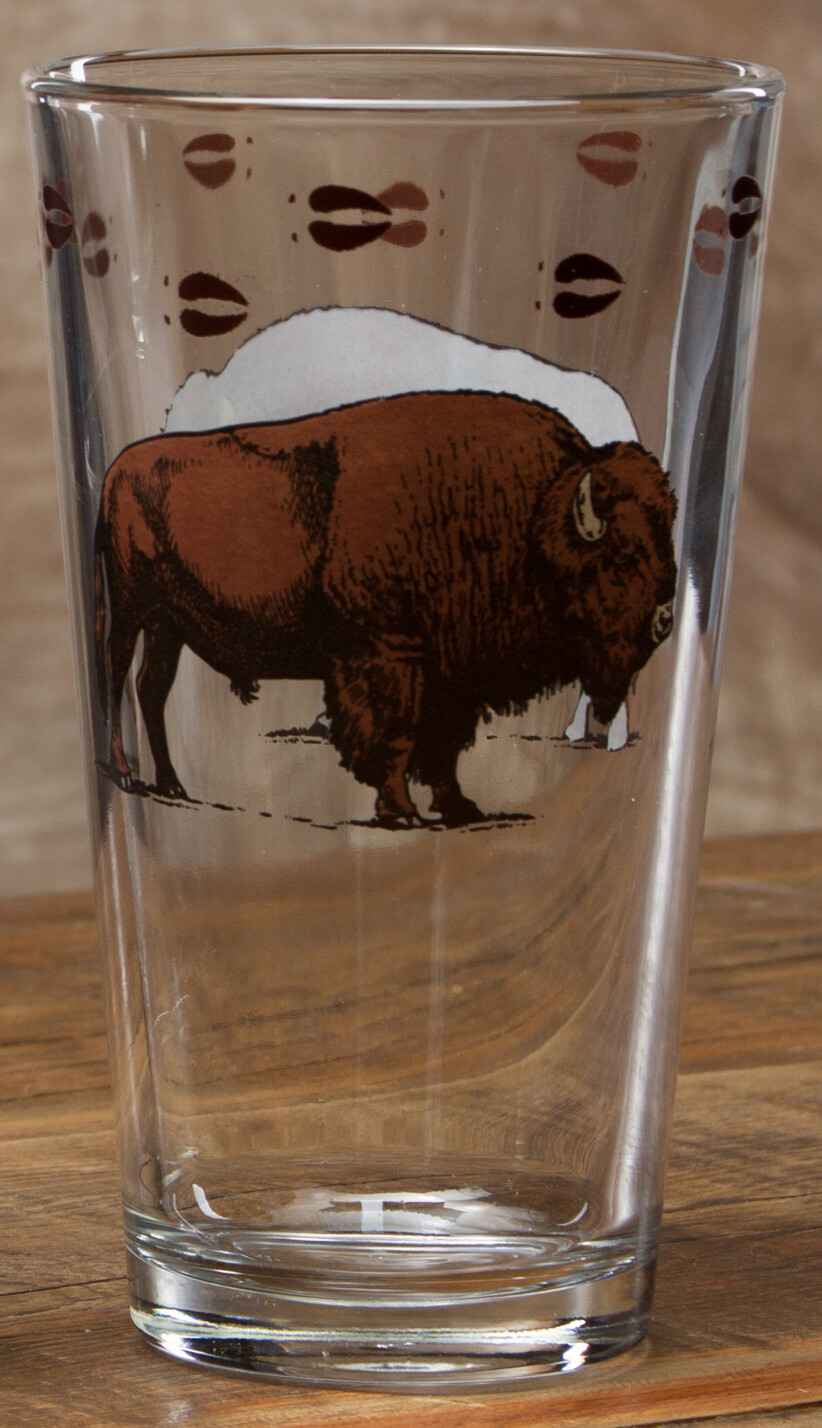 20oz pint, set of 4, bison