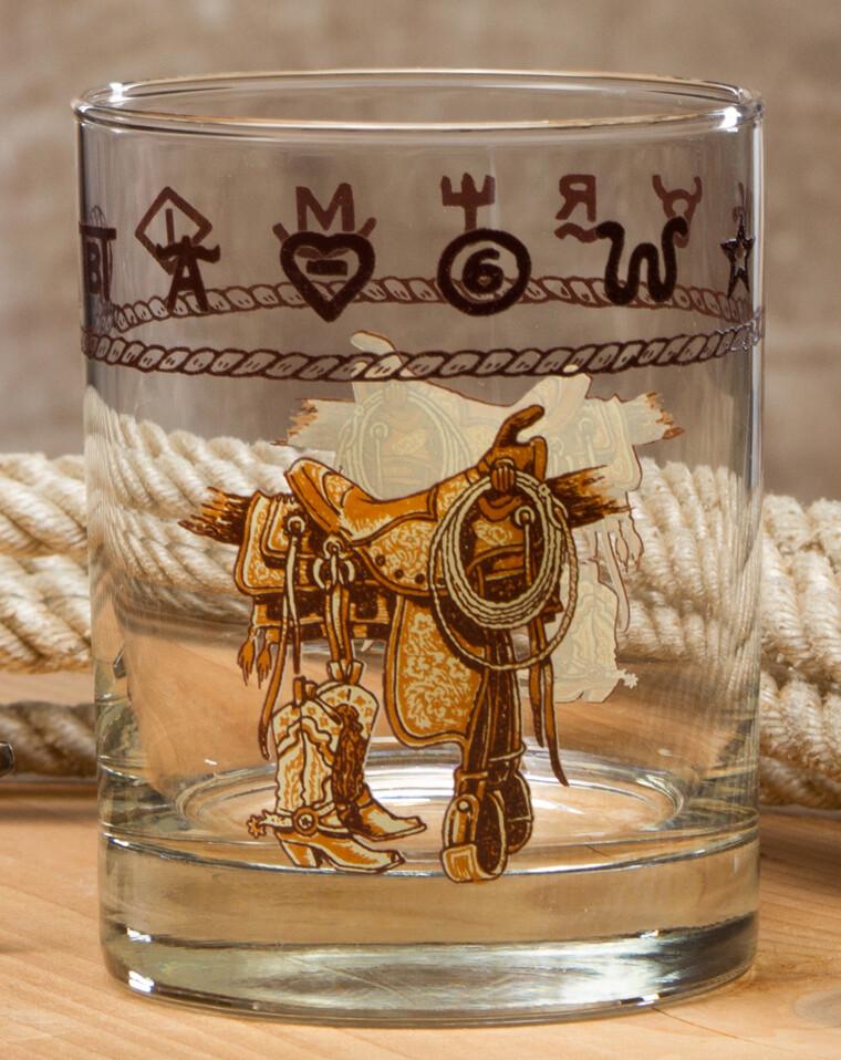 14oz whiskey, set of 4, boots & saddle