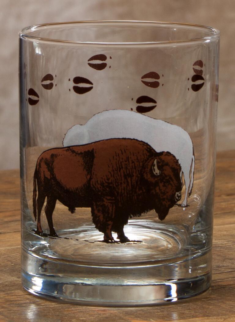 14 oz whiskey, set of 4, bison