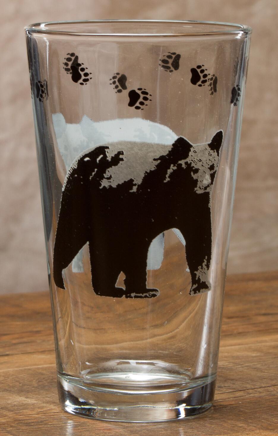 20oz pint, set of 4, bear