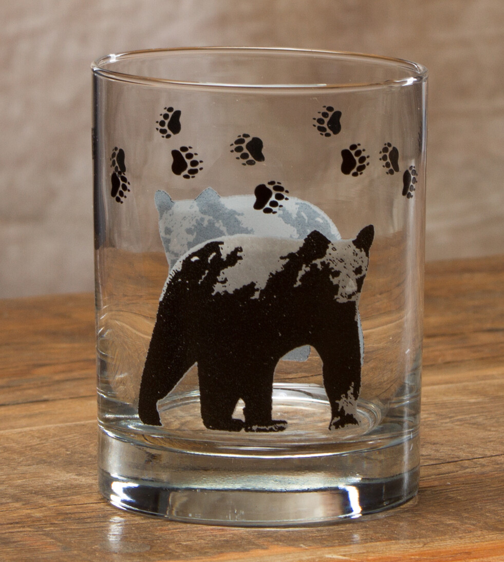 14oz whiskey, set of 4, bear