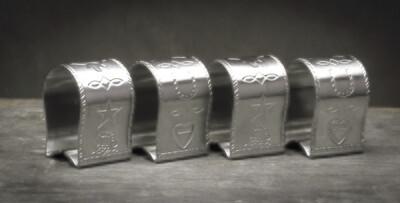 4 piece napkin ring