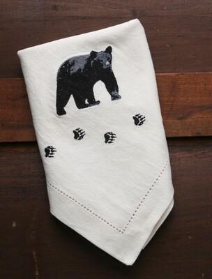 Napkins, 4 pieces, bear