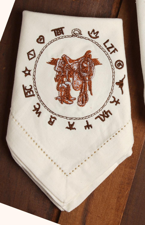 Napkins, 4 pieces, Boots & saddle