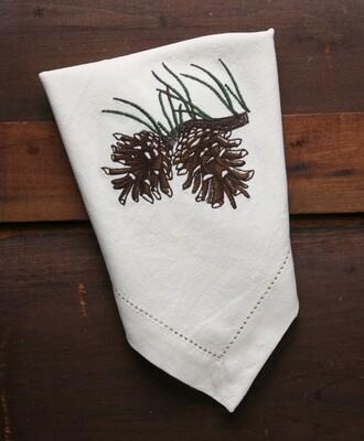 Napkins, 4 pieces, pine cone