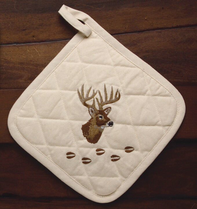 Pot holder, 2 pieces, deer