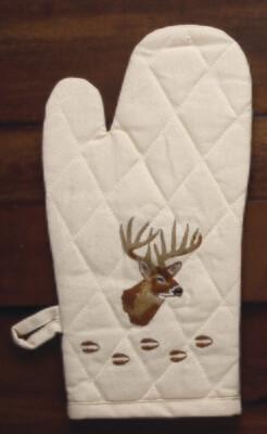 Oven mitts, 2 pieces, deer