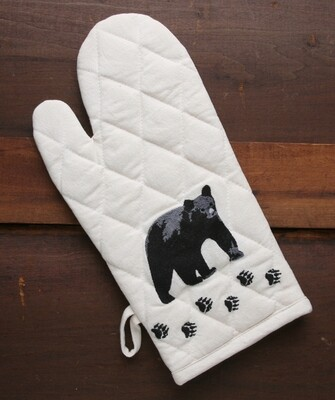 Oven mitts, 2 pieces, bear