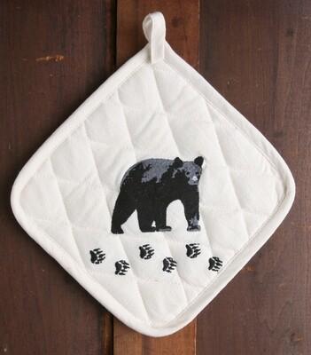 Pot holder, 2 pieces, bear