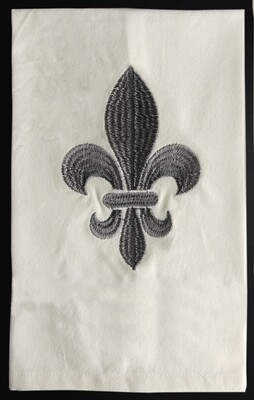 Kitchen towels fleur de lis gray, set of 4