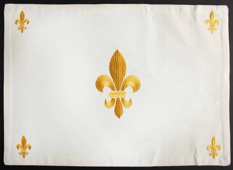 Placemat fleur de lis gold, set of 4