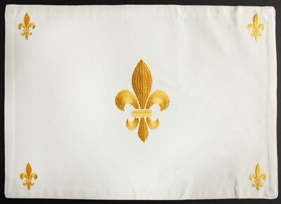 Placemat fleur de lis gold, set of 4