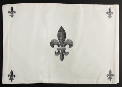 placemat fleur de lis gray, set of 4