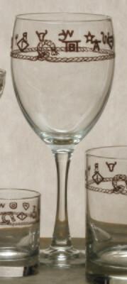15oz goblet, set of 4, stars & longhorns