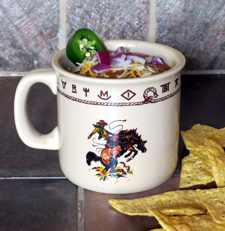 Extra large camp mug, 20 oz, bronco