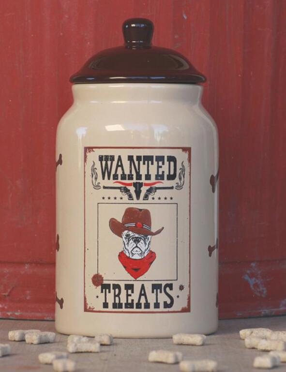 Dog Treat jar, western