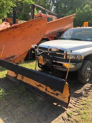 Dodge Ram 3500 Pickup Truck With Plow