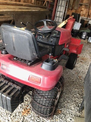 Toro 518XI Lawn Tractor With mower and Snowblower