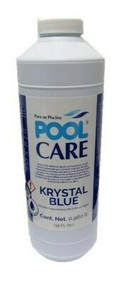Aclarador Pool Care Krystal Blue bote 32 Oz.