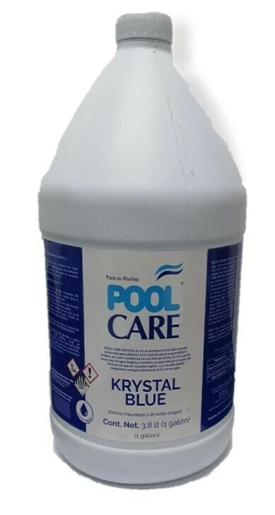 Aclarador Pool Care Krystal Blue bote 1 Galon
