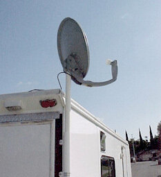 Ramp Mount for Satellite Dish