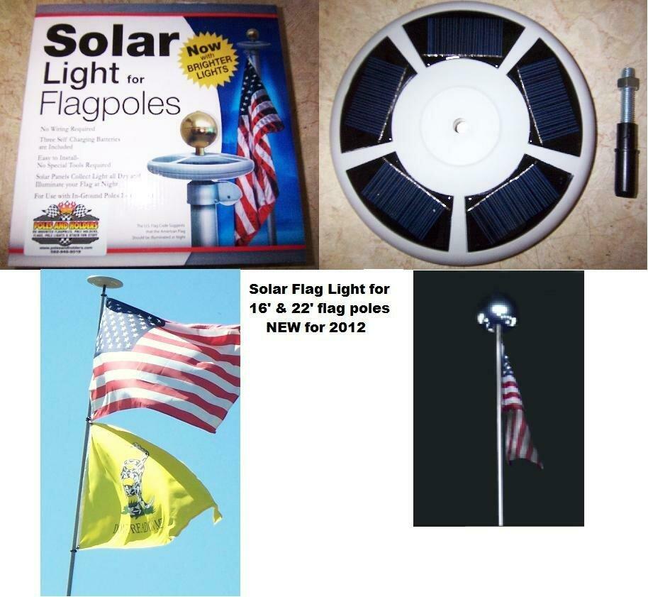 Solar Flag Light For Flagpoles **NEW**