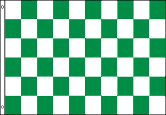 Checkered Flag - Green and White