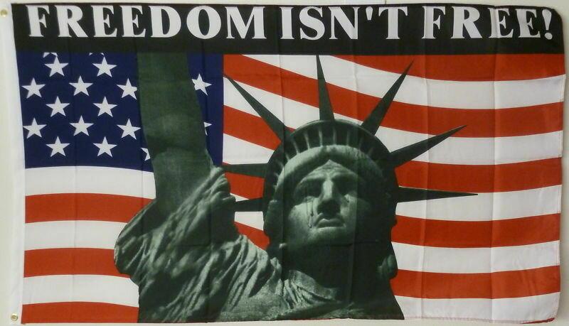 Freedom Isn't Free 3x5' Flag
