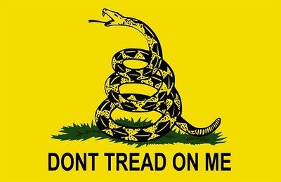 Yellow Don't tread on me 3x5' Fla