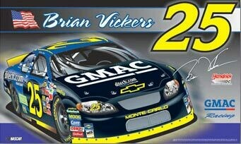 3' x 5' #25 Brian Vickers Double-Sided Flag