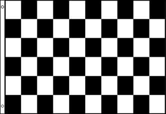 Checkered Flag - Black and White