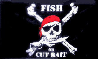 3' x 5' Flag - FISH OR CUT BAIT PIRATE