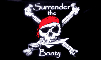3' x 5' Flag - SURRENDER THE BOOTY PIRATE