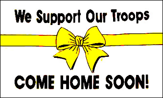3' x 5' Flag - We Support Our Troops