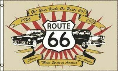 3x5' Route 66 Flag