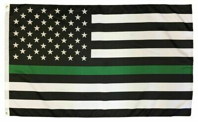 Thin Green line 3x5' Flag