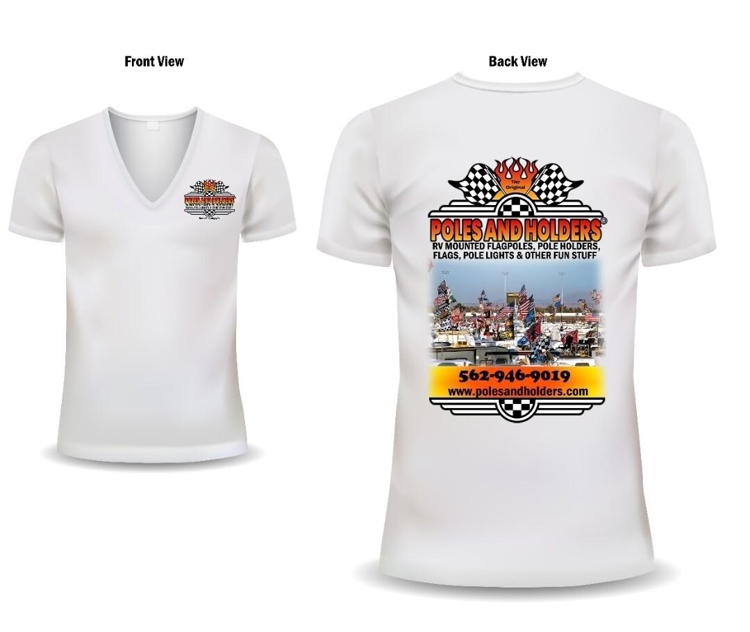 Poles and Holders Women's V-neck Shirt- MEDIUM