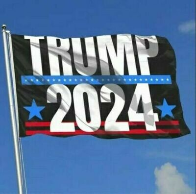 Trump 2024 3x5' Poly Flag **BACK IN STOCK**