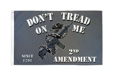 2nd Amendment (Gadsden) Flag 3x5ft Poly Flag