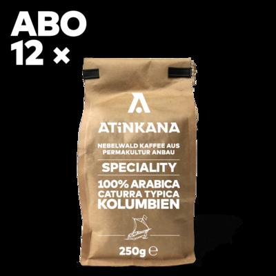 12 × Atinkana Kaffee 250g Speciality ABO