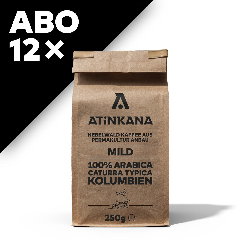 12 × Atinkana Kaffee 250g Mild ABO