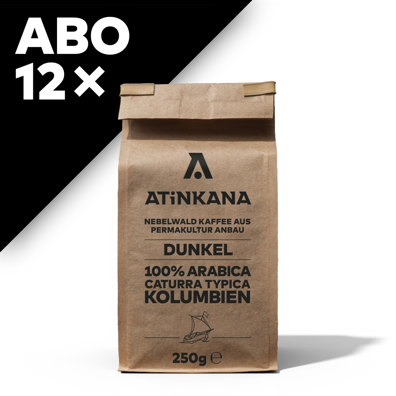 12 × Atinkana Kaffee 250g Dunkel ABO