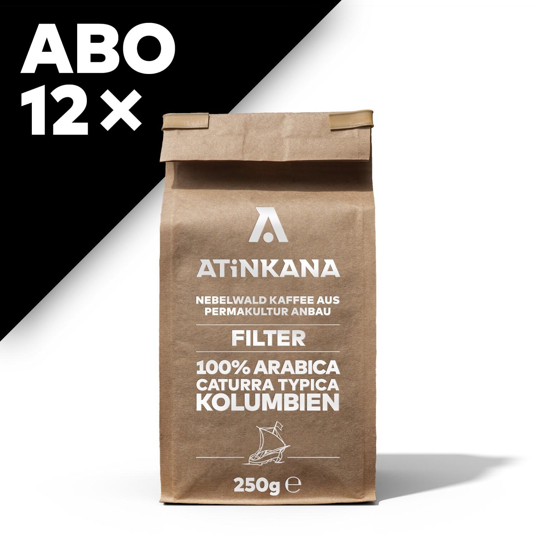 12 × Atinkana Kaffee 250g Filter ABO