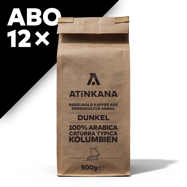 12 × Atinkana Kaffee 500g Dunkel ABO