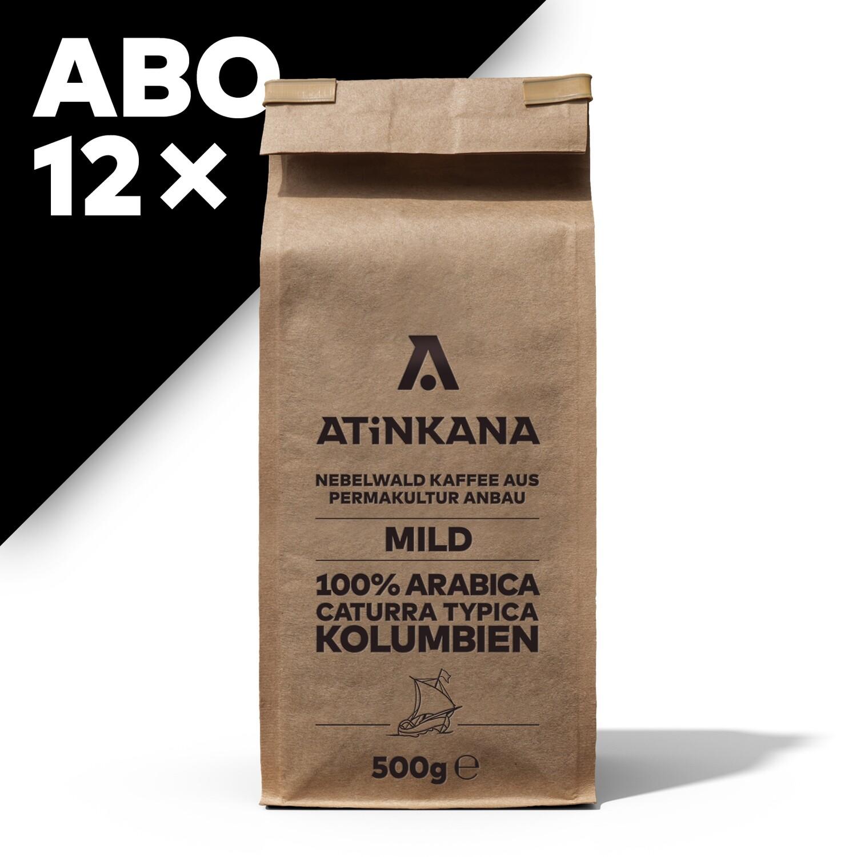 12 × Atinkana Kaffee 500g Mild ABO
