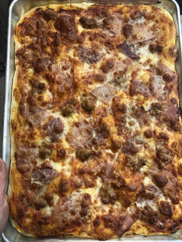 Salumi Focaccia (Roman Style Whole Pizza)