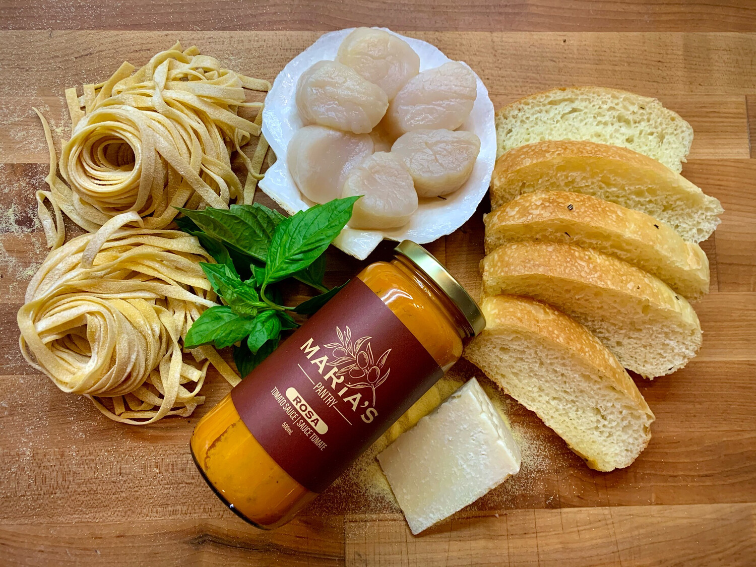 Local Scallop Fettuccine Kit